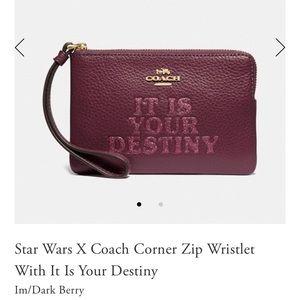NWT Coach X Star Wars Your Destiny Wristlet
